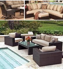 attractive wicker patio furniture