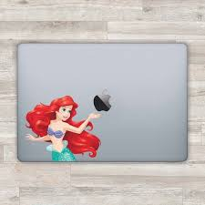 Disney Macbook Decal Ariel Macbook Sticker Apple Decal Laptop Etsy