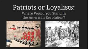 Patriot Or Loyalist Notes And Propaganda Activity By Class Kain