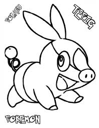 Tepig Pokemon Coloring Pages