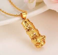 24k yellow gold authentic dragon