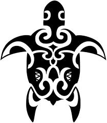 Maori Turtle Tattoo Design Vinyl Sticker Stickers Vinyl Sticker Wall Art Deco Decal 50cm Height 50cm Width Black Vinyl Amazon Ca Home Kitchen