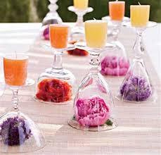 diy wedding centrepieces wine glasses