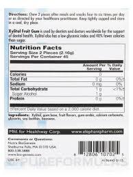 xylitol fruit gum 90 pieces