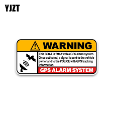 Yjzt 13 5 8cm Warning Boat Real Time Gps Tracking Link To Police Decals Pvc Car Sticker C1 3074 Car Sticker Police Decalscar Decal Sticker Aliexpress