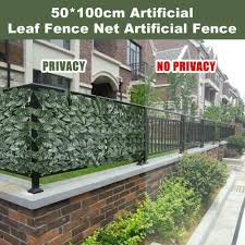 Artificial Garden Screen Hedges Fence Panels Outdoor Faux 0 5 1m Privacy Leaf Ebay