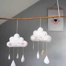 Vova New Nordic Style Felt Cloud With Face Kids Room Decoration Cloud Scandinavian Style Children Room Decor Nordic Decoration For Ro