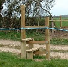 Fence Stile No Need For A Gate Or Climbing Over Fence Electric Fence Farm Fence Fence Gate