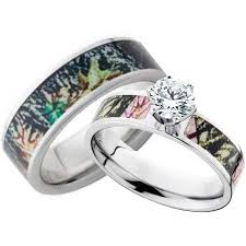 camo wedding rings for women with