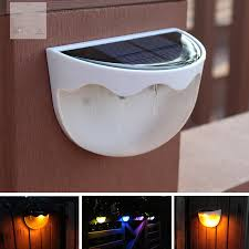 Led Solar Fence Light Waterproof Wall Lamp For Home Outdoor Garden Courtyard 7 Colors Warm Light Style White Shell Walmart Canada