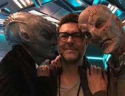 """Aaron Harberts on Twitter: """"Alien love. @actordougjones @marythechief  #StarTrekDiscovey @startrekcbs @StarTrekNetflix… """""""