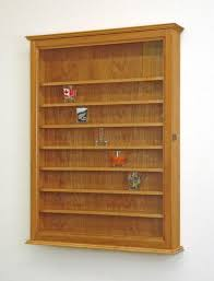 72 shot glass display case wall cabinet