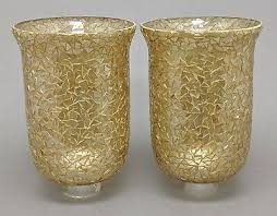 gold mosaic for candle holders 6 dia x