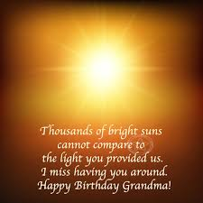 quotes to wish happy birthday grandma in heaven