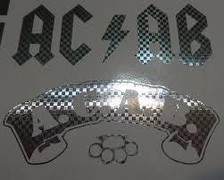 Acab Lot Of 2 Carbon Fiber Chrome Die Cut Vinyl Sticker Decal Blasted Rat