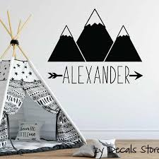 Wall Decals For Kids Personalized Wall Decal For Kids Mountain Wall Sticker Boys Room Custom Name Wall Decor L536 Wall Stickers Aliexpress