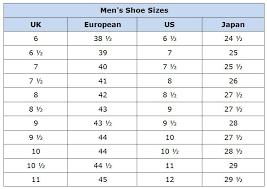 mens shoe chart donmo tbcct co