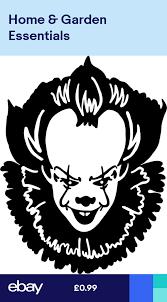 Pennywise It Clown Vinyl Decal Sticker Halloween Car Van Wall Laptop Tablet Halloween Vinyl Halloween Stencils Halloween Silhouettes