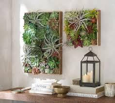 Faux Succulent Wall Art Pottery Barn