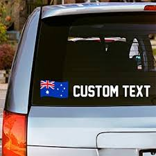 Amazon Com Oliver S Labels Custom Vinyl Australia Flag Window Car Decal Sticker Choose Font Color And Text Automotive