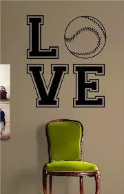 Love Baseball Softball Design Sports Decal Sticker Wall Vinyl Decor Ar Boop Decals
