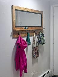 mirror with hooks ana white