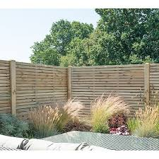 Forest 6 X 5 Pressure Treated Contemporary Double Slatted Fence Panel 1 8m X 1 5m Shedstore