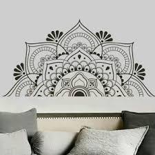 Removable Adhesive Half Mandala Wall Sticker Decal Mural Meditation Decor Trendy Ebay
