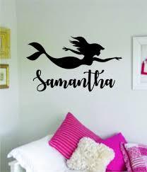 Mermaid Custom Name Wall Decal Sticker Vinyl Art Bedroom Living Room N Boop Decals