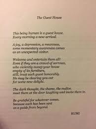 theguesthouse rumi poetry gratitude mindfulness