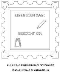 Kleurplaat Catechismus Zondag13 Vraag Antwoord34 Heere Eigenaar