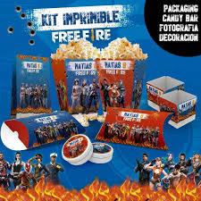 Kit Imprimible Free Fire Candy Bar Deco Cumple 600 00 En