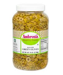 ambrosia sliced green olives