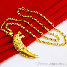 999 gold big spike pendant necklace