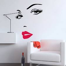 Eye Eyelashes Wall Decal Sticker Lashes Eyebrows Brows Beauty Salon Quote Decals For Sale Online