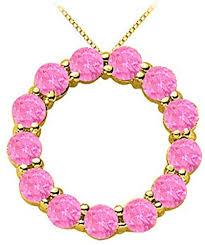 pink sapphire circle of life pendant