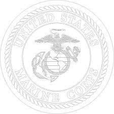 U S M C Marine Corps Seal Silver Vinyl Sticker At Sticker Shoppe