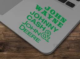 Josh Thompson Way Out Here John Wayne Johnny Cash John Deere Etsy