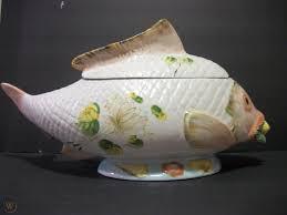 VINTAGE ITALIAN FISH SOUP TUREEN, Koi ...