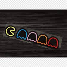 Car Pac Man Decal Bumper Sticker Car Emblem Text Logo Png Pngwing