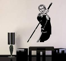 One Piece Wall Vinyl Decal Top Anime Wall Art Sword Roronoa Zoro Vinyl Sticker Anime Wall Art Vinyl Wall Decals Sticker Decor