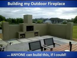 building my outdoor fireplace with