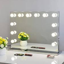 white hollywood makeup vanity mirror
