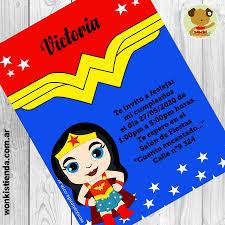 Mujer Maravilla Invitacion Whatsapp