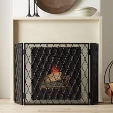 corbett 3 panel bronze fireplace screen