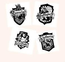 Art Slytherin Gryffindor Hufflepuff Ravenclaw Hogwarts House Crests Vinyl Decal Art Posters