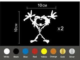Pearl Jam Stick Man Decal Total X 2 Plus Bonus 3rd Monogram X 1 Ebay