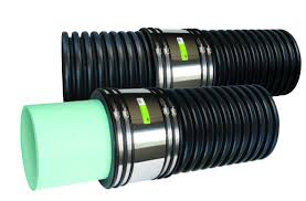 flexible coupling for corrugated pipe