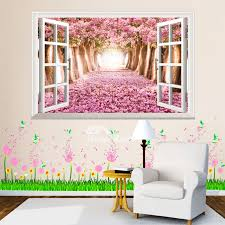 3d Wall Stickers Plant Flower Pattern Living Room Decorative Pvc