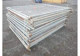 Used Unknown Temporary Fence Panels 27 Of Base Holder Feet Temporary Construction Fencing In Listed On Machines4u